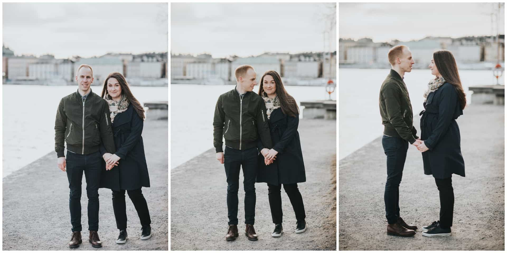 Couples session on a chilly day in Stockholm, parfotografering på Skeppsholmen, Stockholm