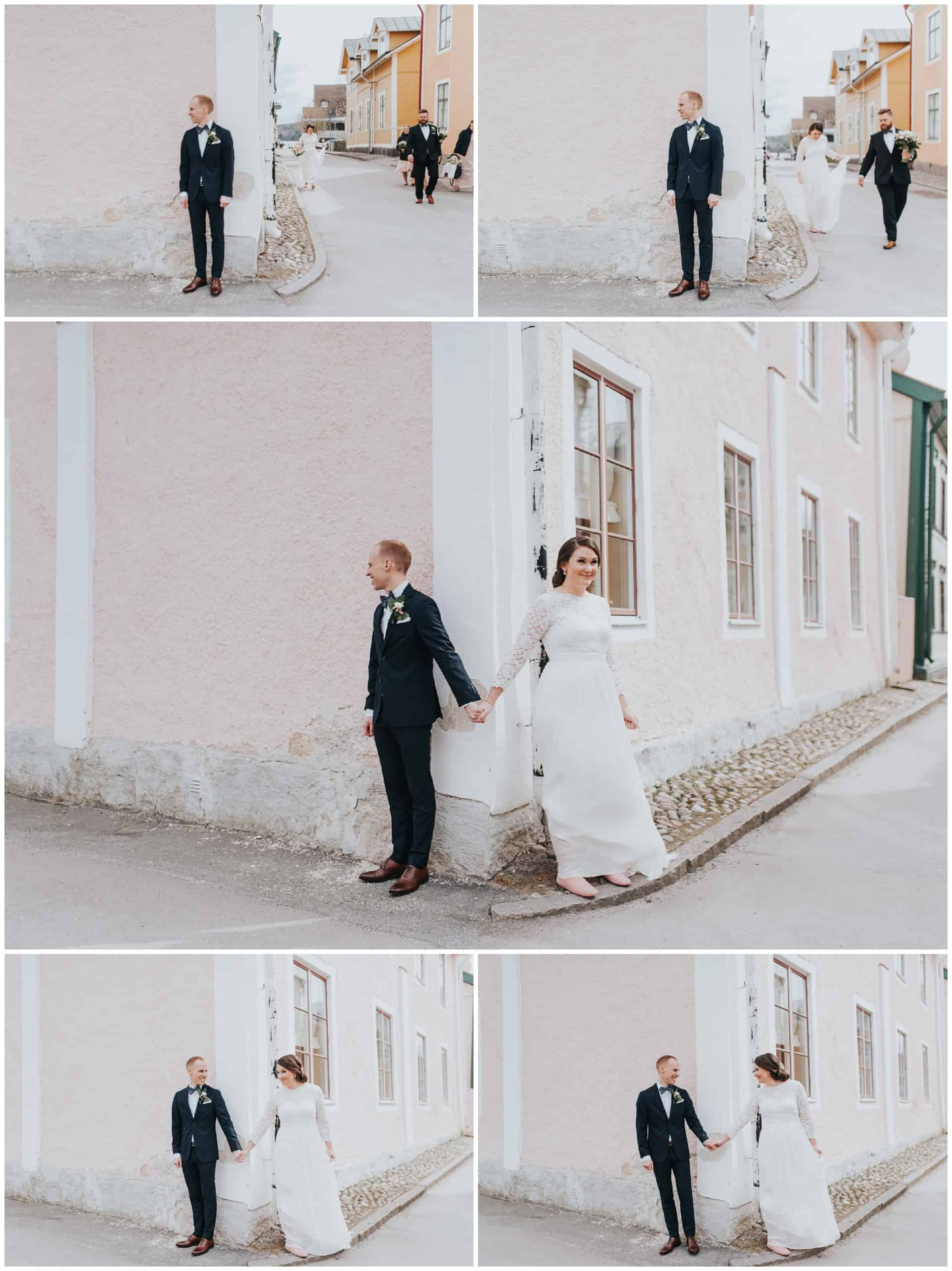 first look wedding Mariefred Stockholm