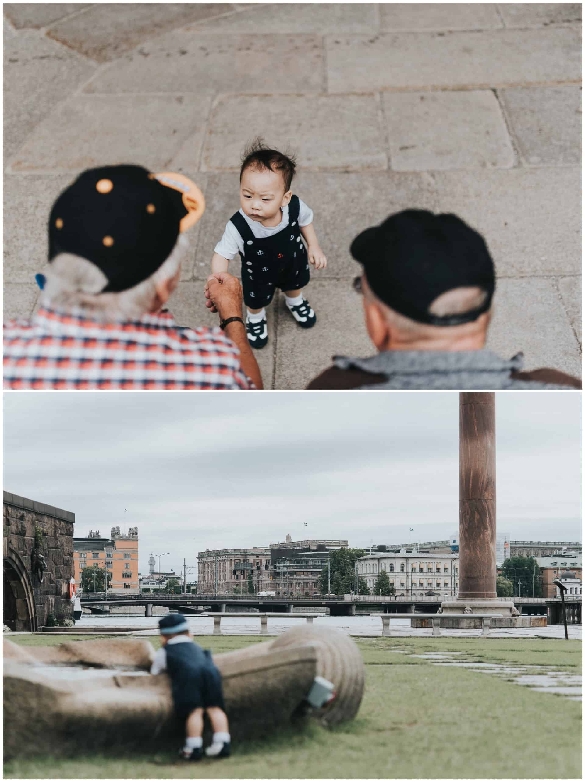 family from Singapore visiting Stockholm, family photography Stockholm